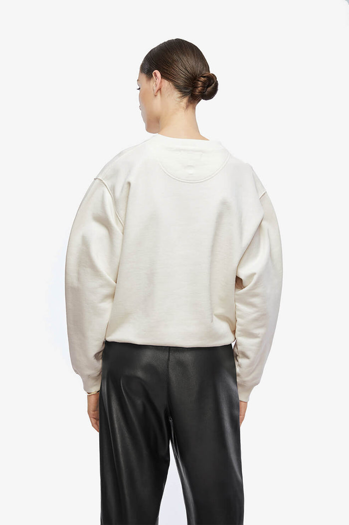 ANINE BING Ramona Sweatshirt Walk With Me - Ivory