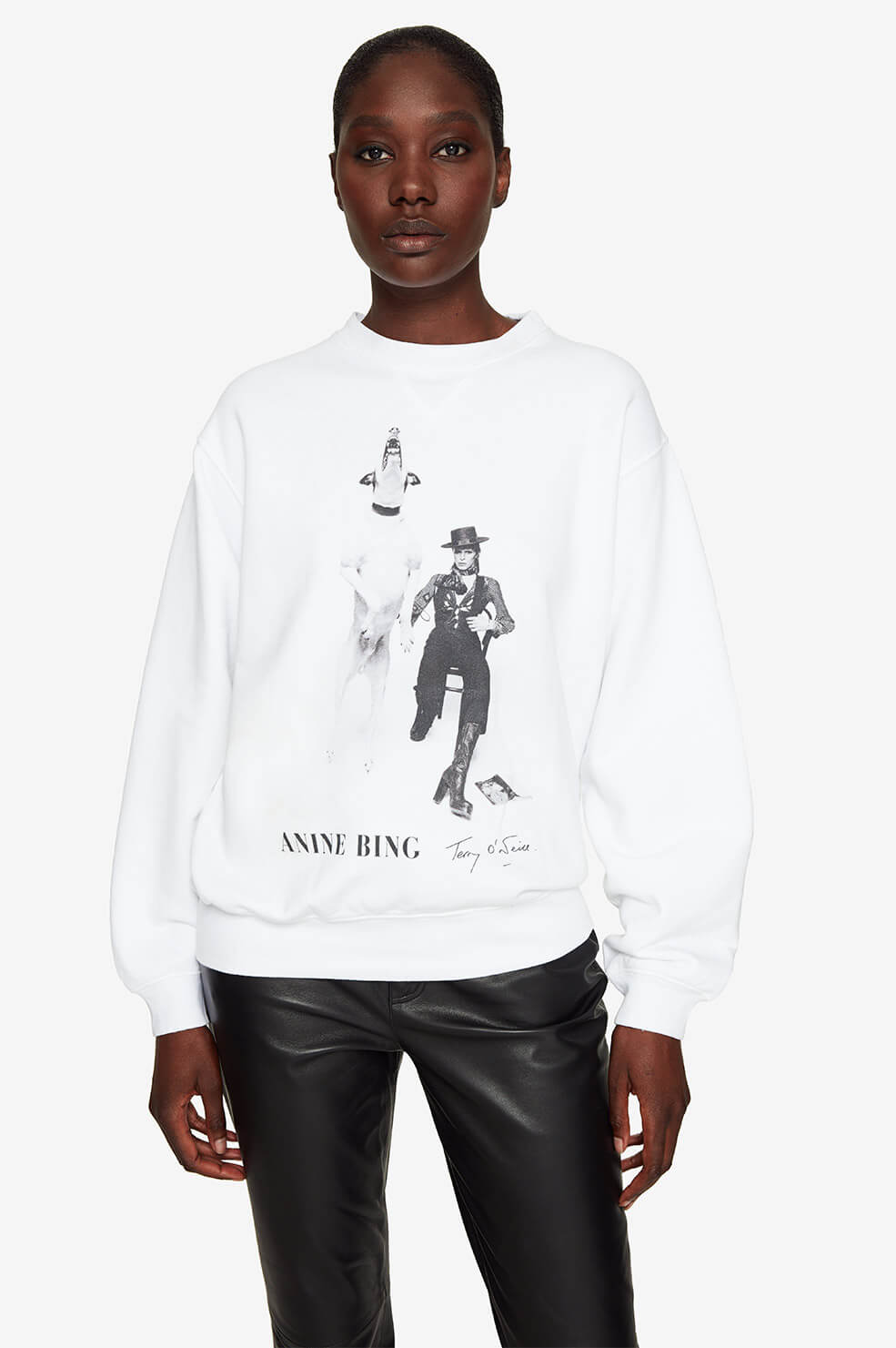 Ramona Sweatshirt AB X TO David Bowie - White