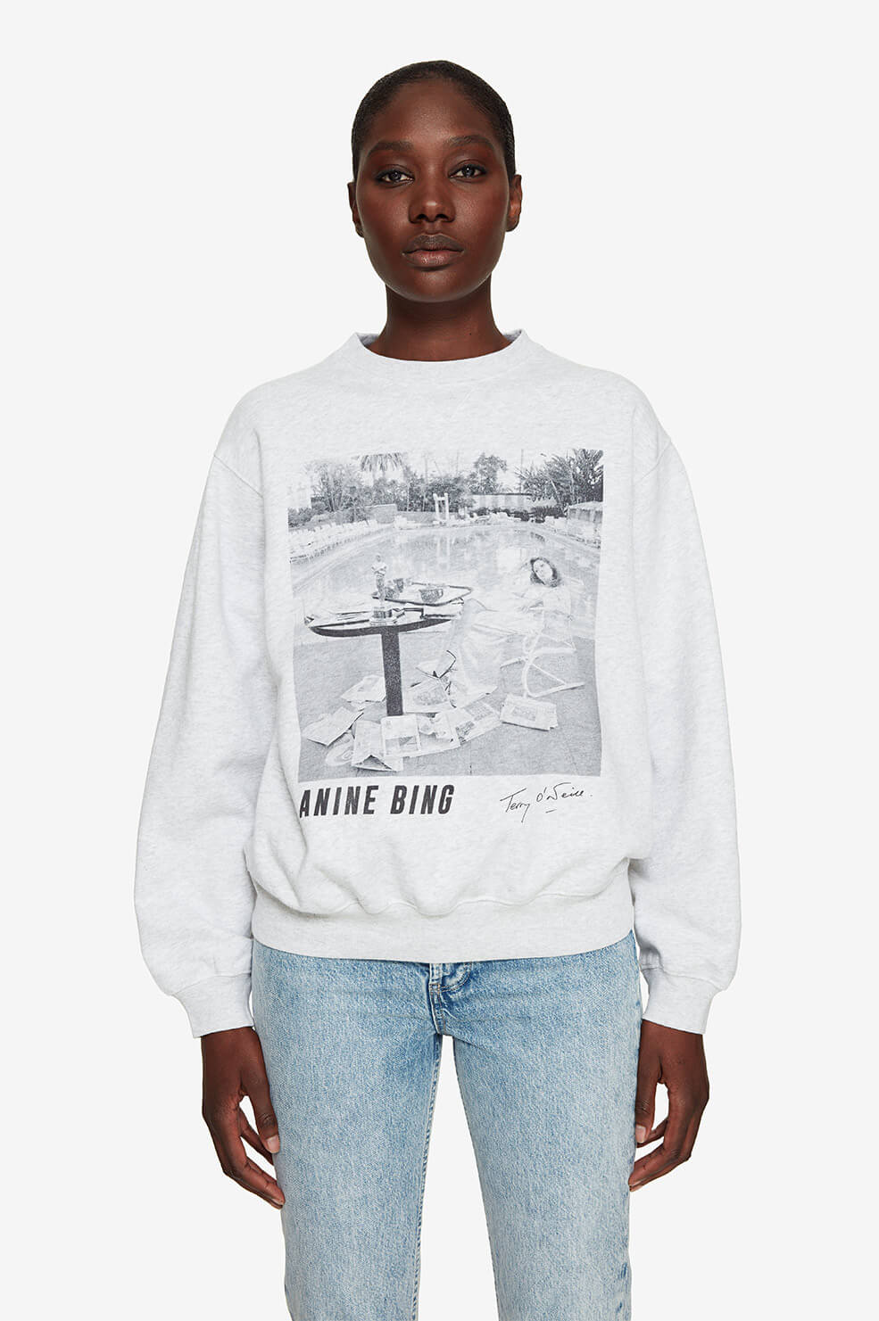 Ramona Sweatshirt AB X TO Faye Dunaway - Heather Grey
