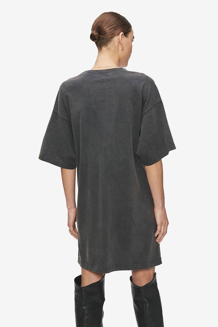 ANINE BING Harley Tee Dress AB x TO - Washed Black