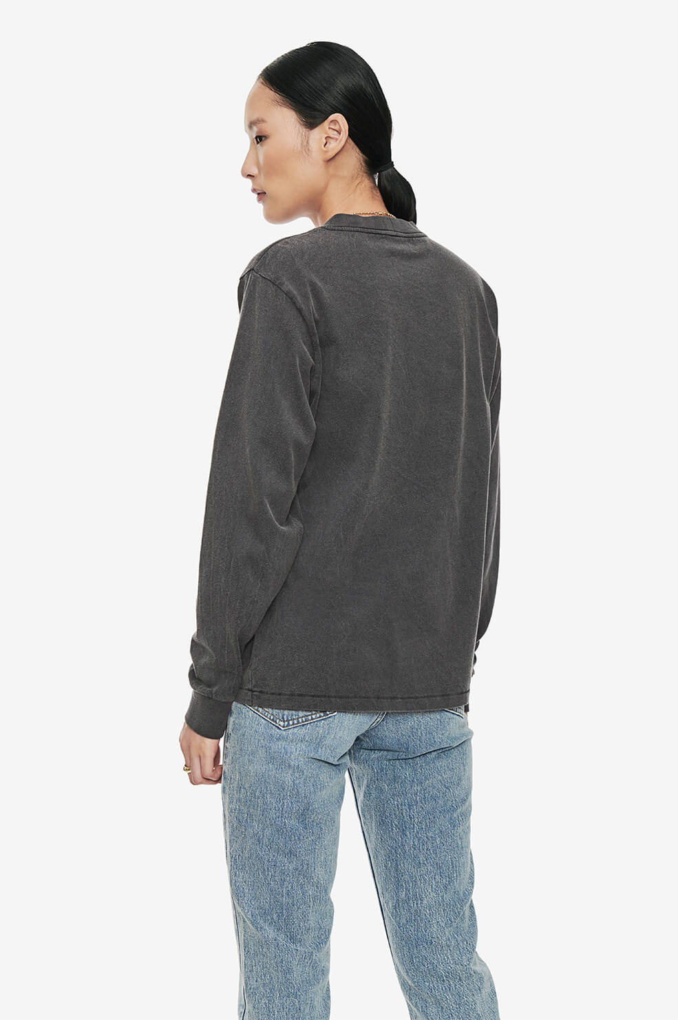 ANINE BING Willow Tee - Washed Black