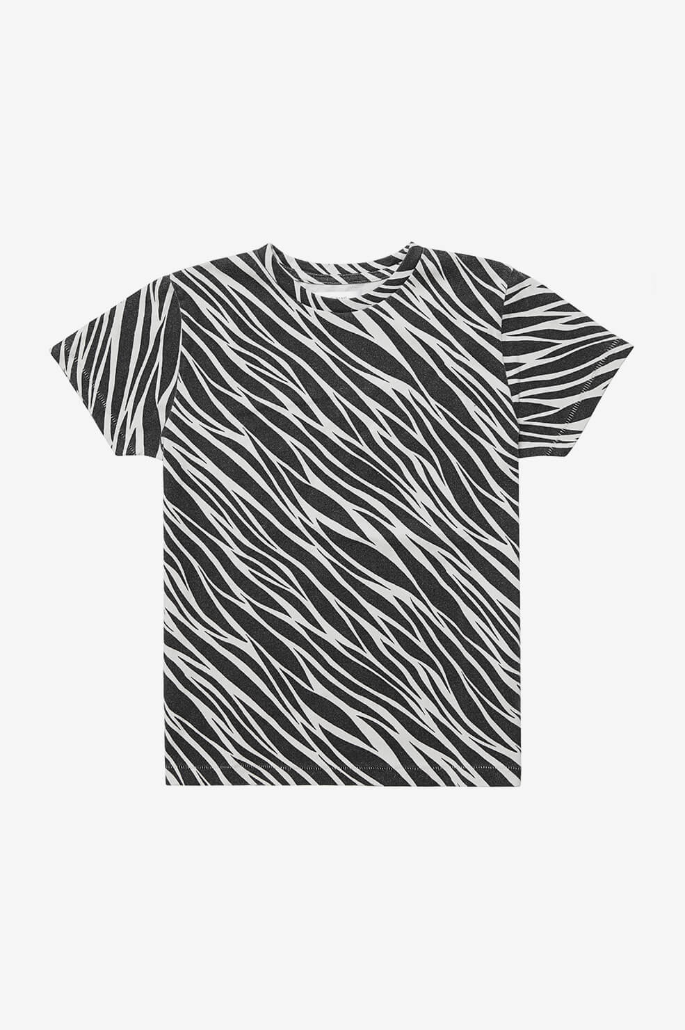ANINE BING KIDS Mini Lili Tee - Cream Zebra