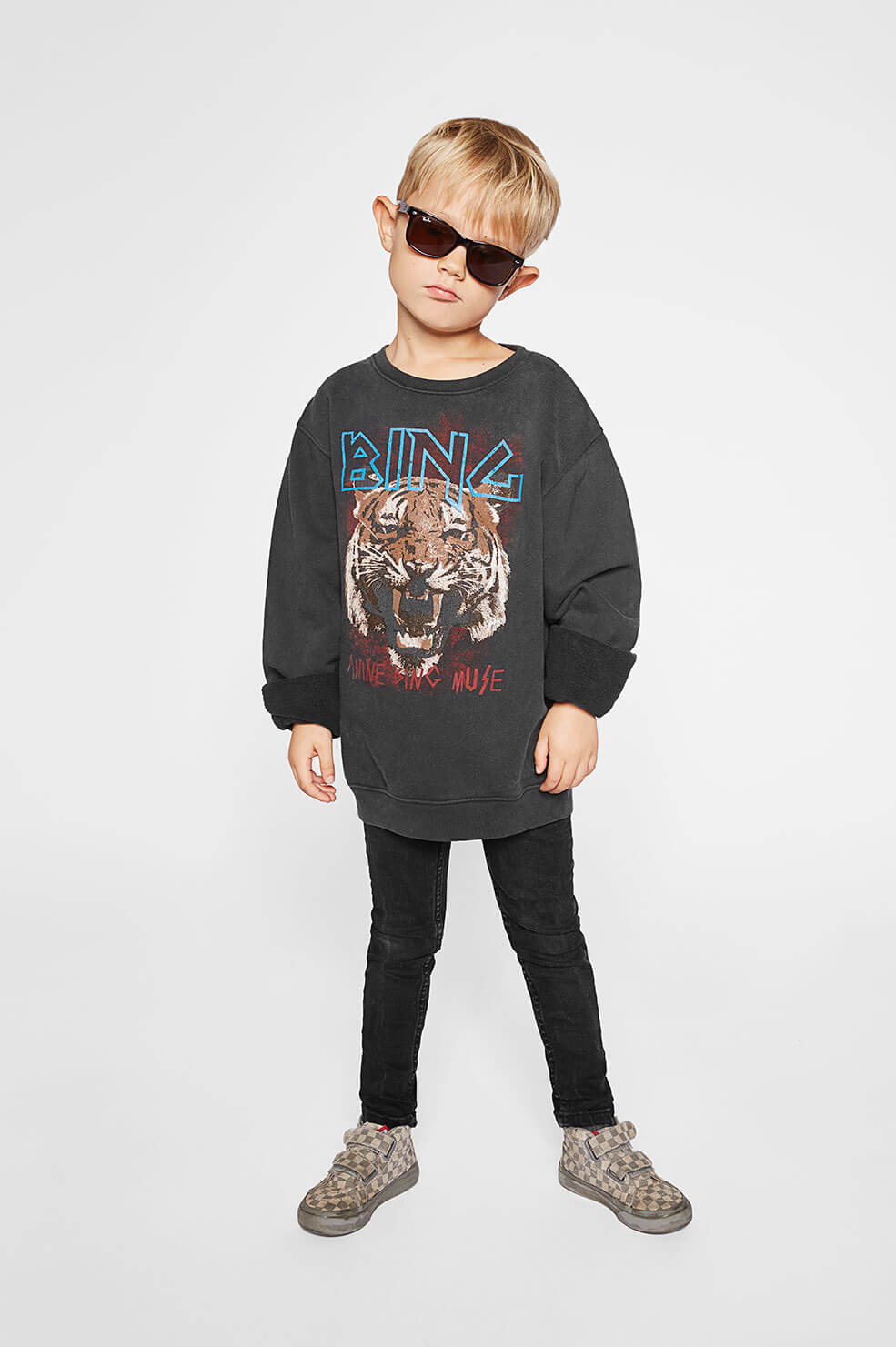 Mini Tiger Sweatshirt - Black