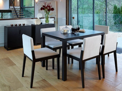 Black Gillmore Large Rectangular Dining Table