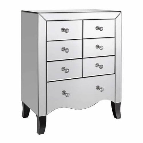 Mirorred Valentina 7 Drawer Chest