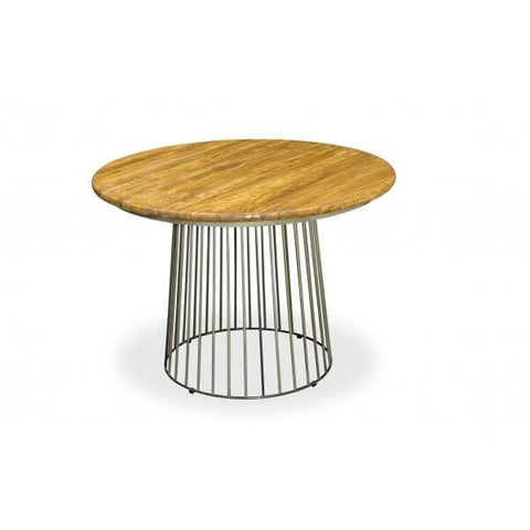 Stylish Sauce Round solid mango wood birdcage dining table
