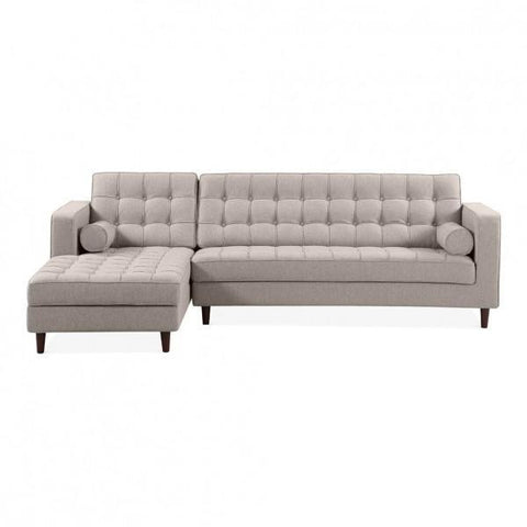 Cream left hand 4 seater sofa