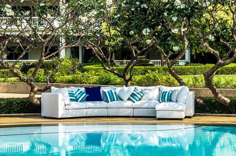 outdoor furniture with pool