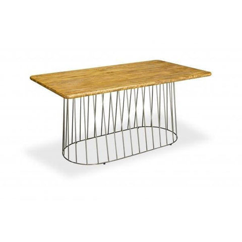 Rectangular Solid Mango Wood Birdcage Dining Table