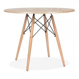 Natural Round Dining Table