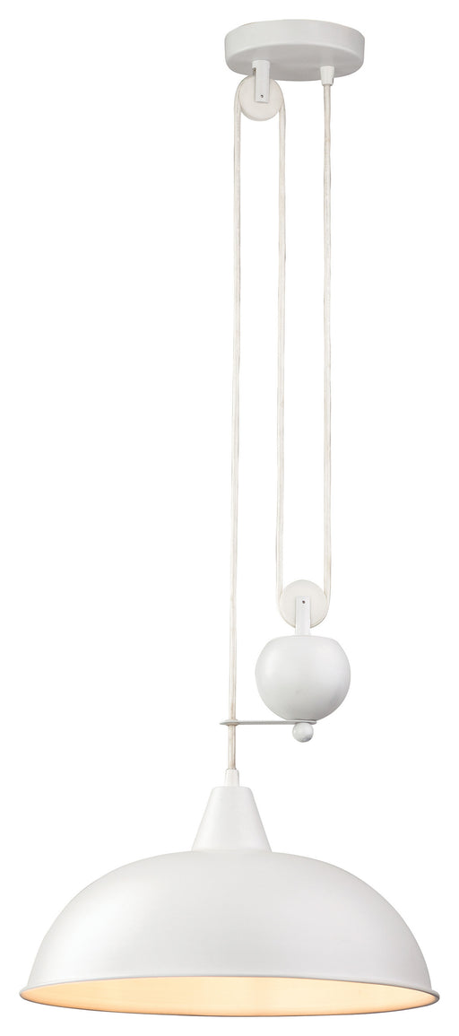 White Century Rise & Fall Pendant Light