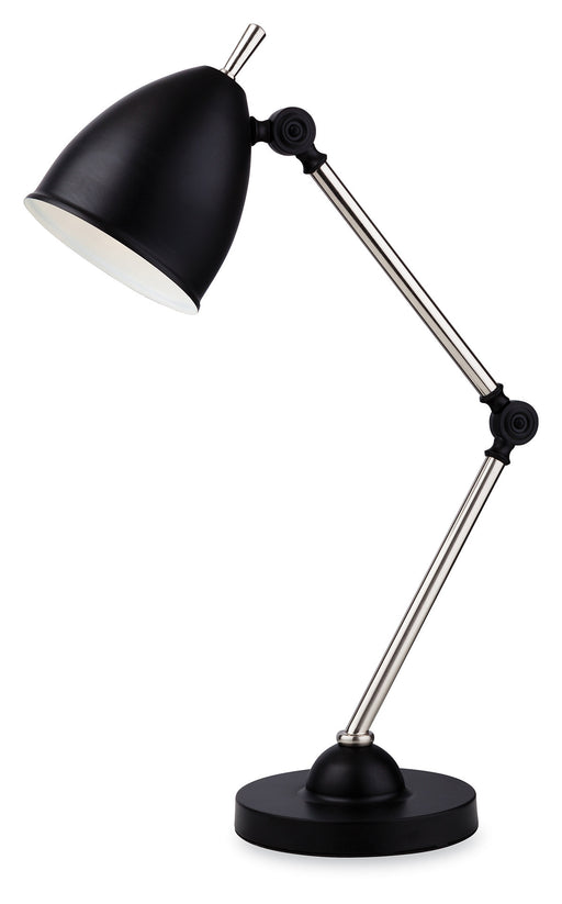 Black Bally Table Lamp Light