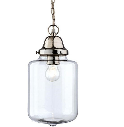 Clear Glass w/ Chrome Craft Pendant Light