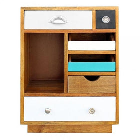 Wooden Bedside Table 3 Draws