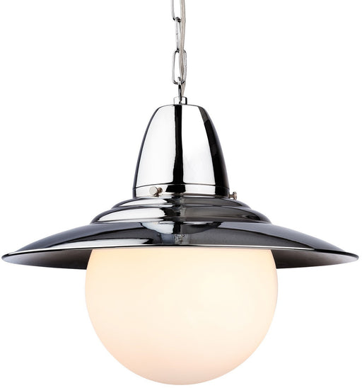 Chrome Opal Glass Marco Pendant Light