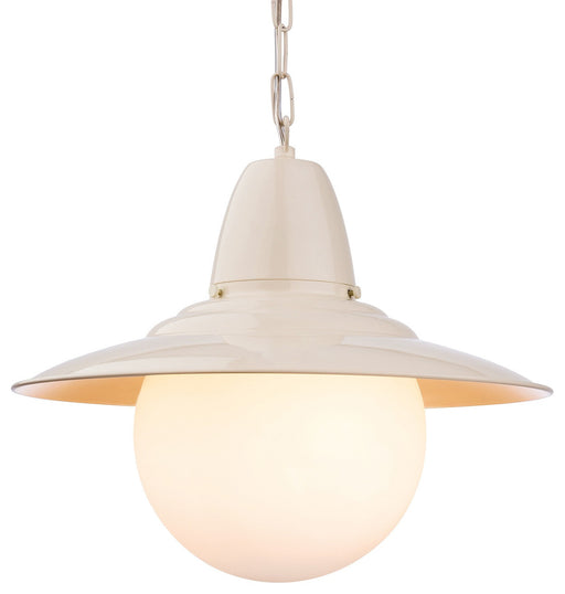 Cream Opal Glass Marco Pendant Light