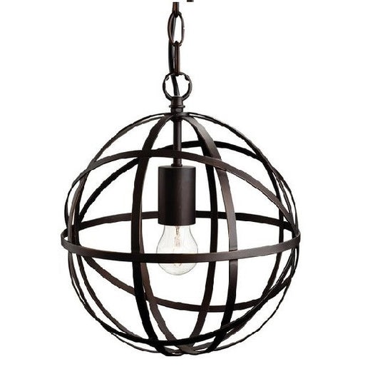 Antique Brown Castle 1 Light Pendant