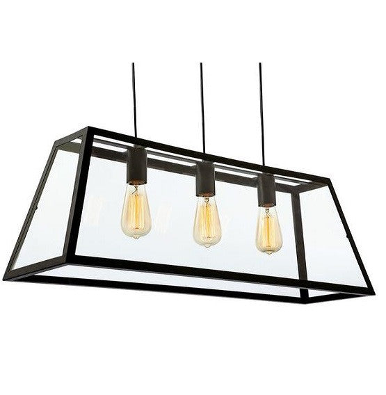 Black Kew 3 Light Pendant