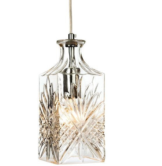 Chrome Decanter 1 Light Pendant