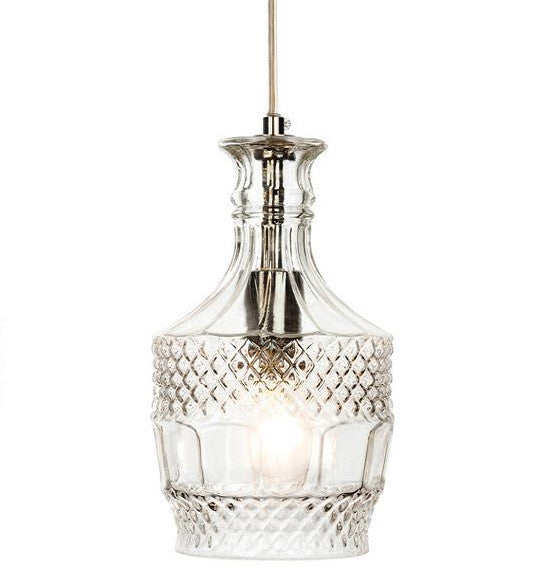 Chrome Decanter 1 Light Pendant - 3449CH