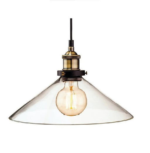 Antique Brass Empire Pendant Light - 3473AB
