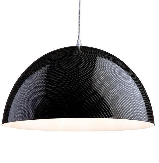Carbon Fibre Effect Racing Pendant Light - 3478CF