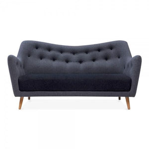 Dark Grey Modern 2 Seater Sofa