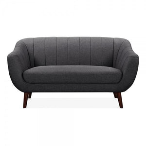 Dark Grey Minimal 2 Seater Sofa
