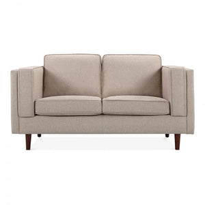 Cream Retro 2 Seater Sofa