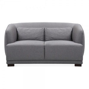 Dark Grey Upholstered 2 Seater Sofa