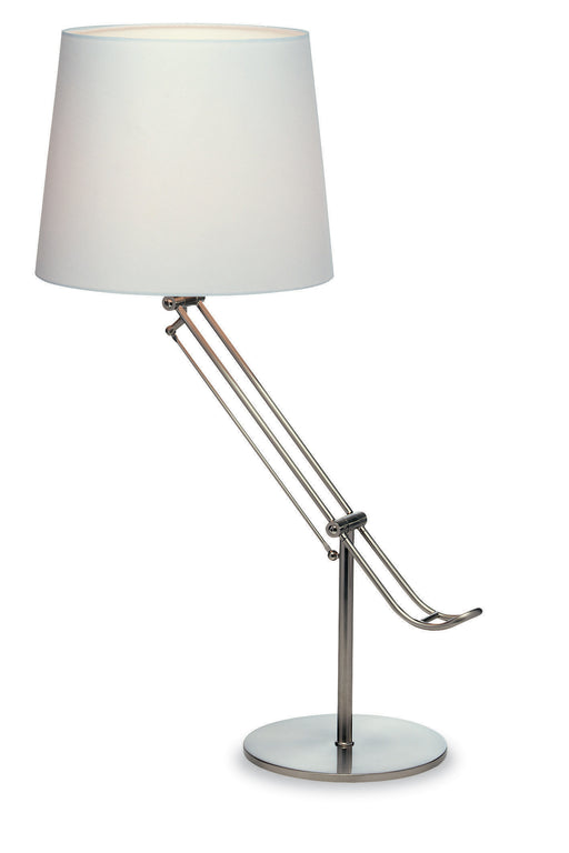 Brushed Steel Polo Table Lamp
