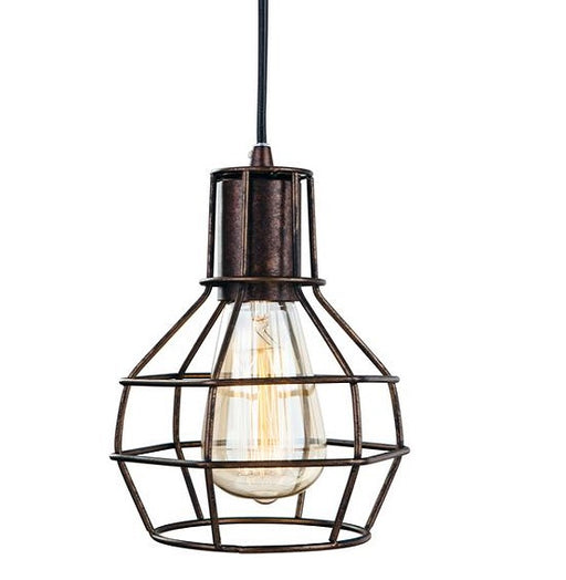 Rustic Brown Clipper Pendant Light