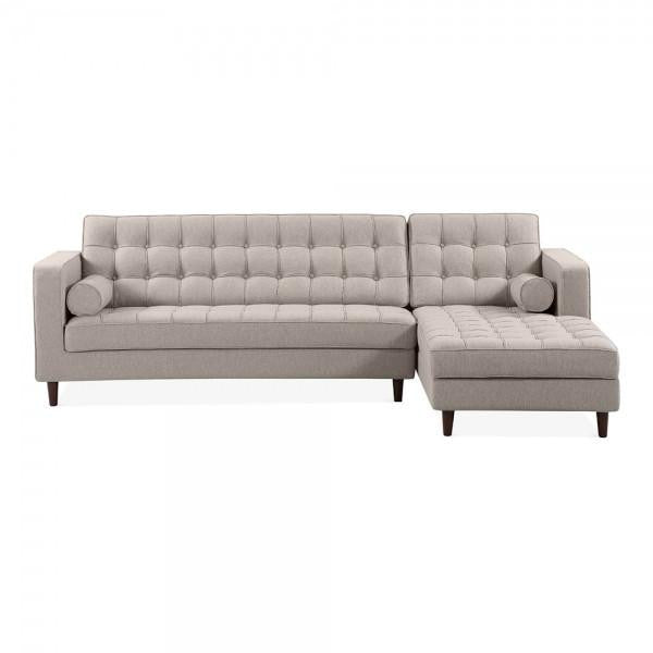 Cream Right Hand 4 Seater Corner Sofa