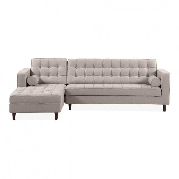 Cream Left Hand 4 Seater Corner Sofa