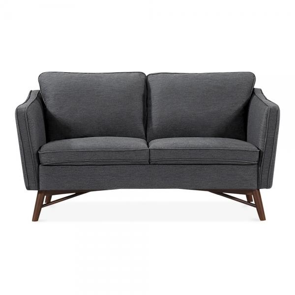 Dark Grey Fabric 2 Seater Sofa