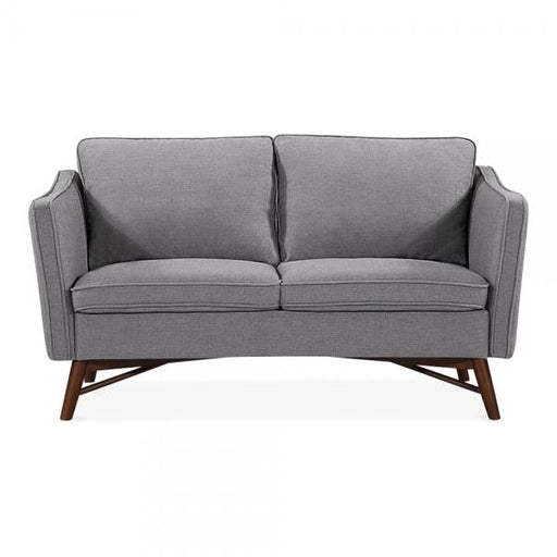 Grey Fabric 2 Seater Sofa