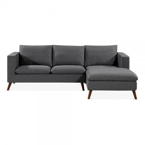 Dark Grey Modern Right Hand Corner 3 Seater Sofa