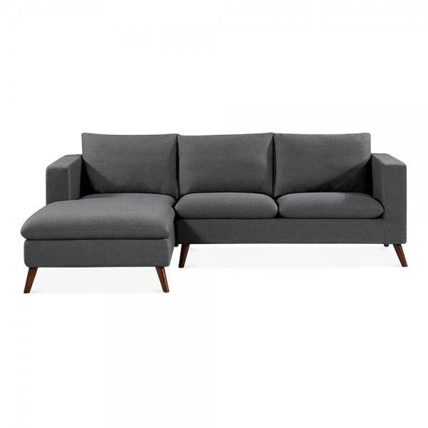 Dark Grey Modern Left Hand Corner 3 Seater Sofa