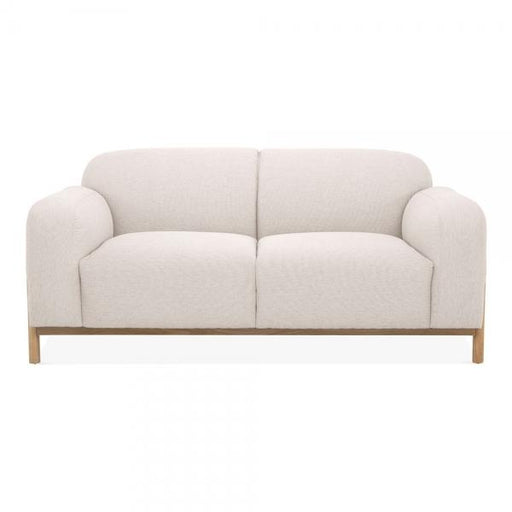 Cream Vintage Styled 2 Seater Sofa