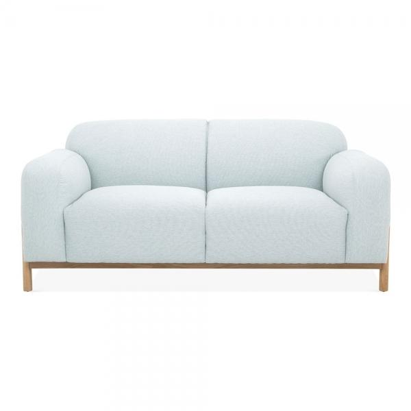 Light Blue Vintage Styled 2 Seater Sofa