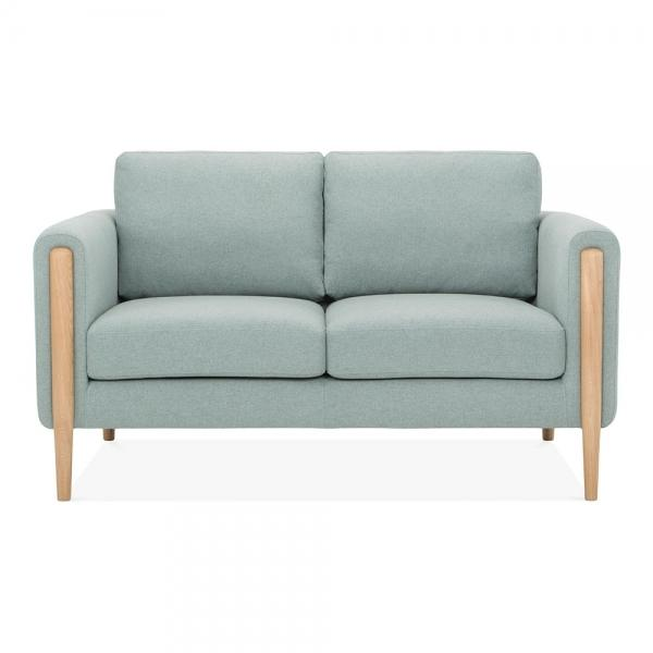 Teal Retro 2 Seater Sofa