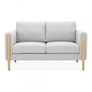 Light Grey Retro 2 Seater Sofa