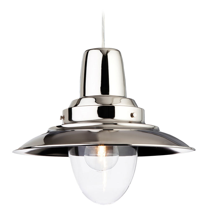 Chrome Fisherman Pendant Light