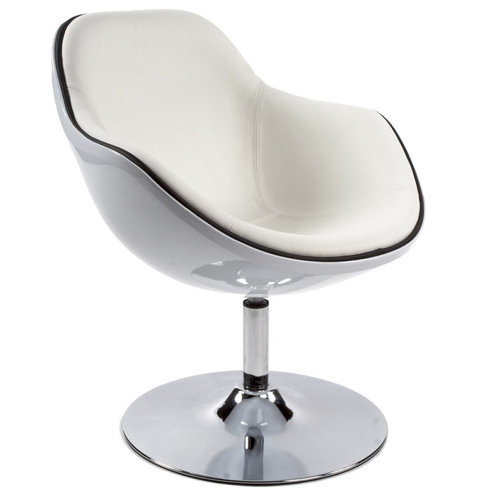 White Retro Kokoon Daytona Chair AC00250WHWH