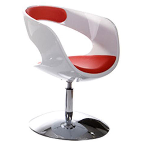 White and Red Designer Kokoon Kirk Chair AC00380WHRE