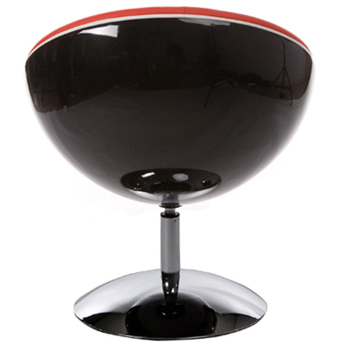 Black and Red Retro Kokoon Sphere Chair AC00400BLRE