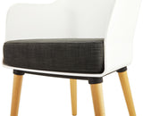 White and Grey Modern Kokoon Mysik Armchair AC01210WHDG