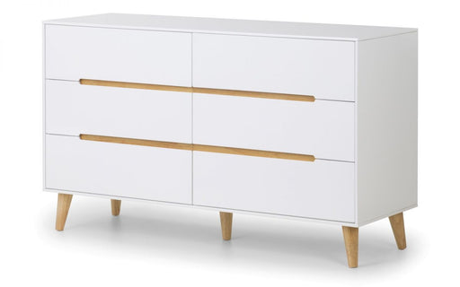 Julian Bowen Alicia 6 Drawer Bedside