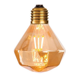 Amber Glass LED Decorative Lamp 165x120mm