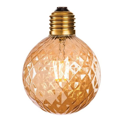 Amber Glass LED Decorative Lamp